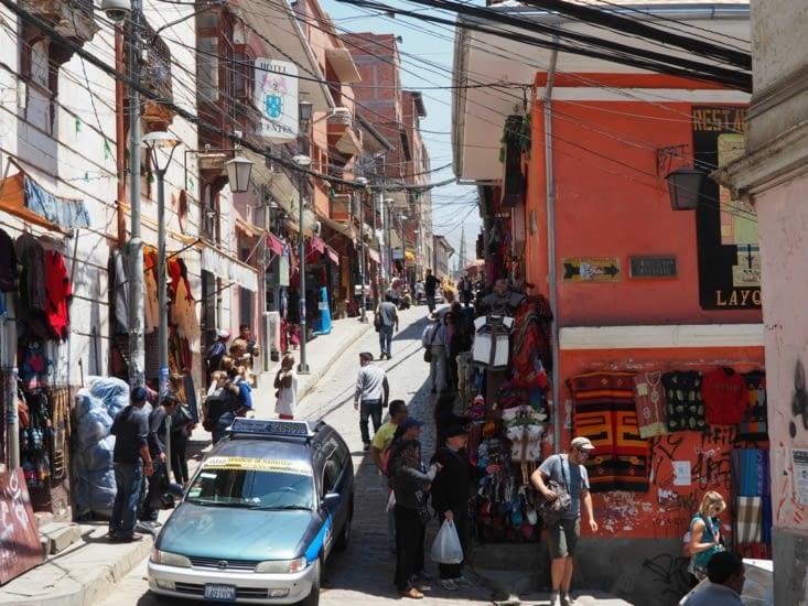 Les rues du centre historique de la Paz