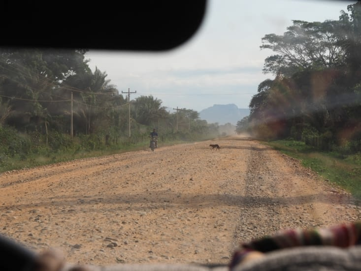 Les routes en dehors de Rurrenabaque