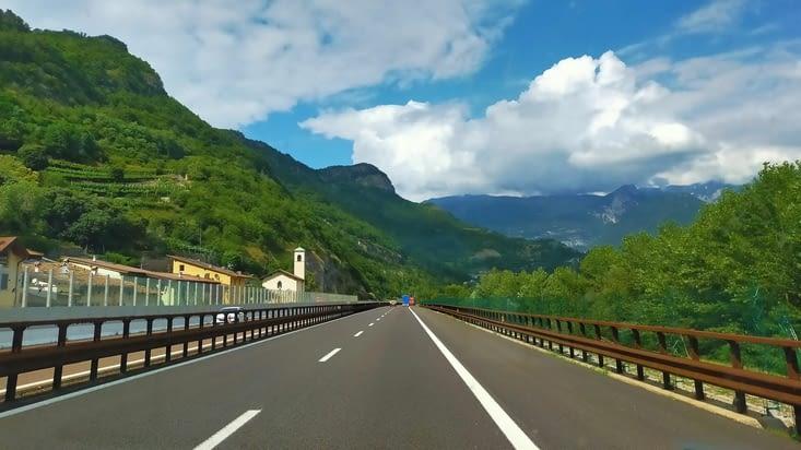 Sur la route direction Trente