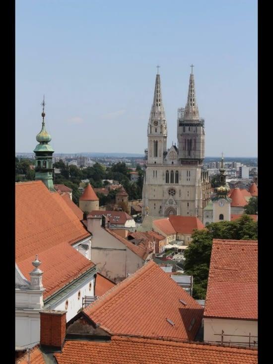 Vue depuis la Lotrščak Tower