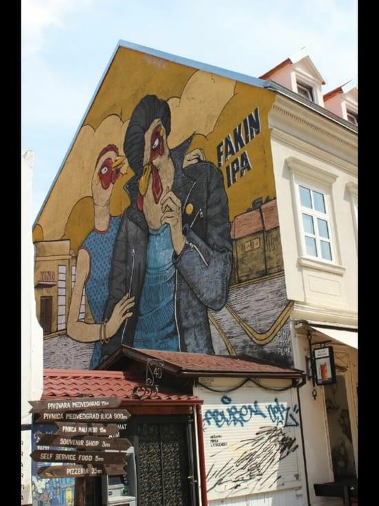 Street art dans la rue Ivana Tkalcica