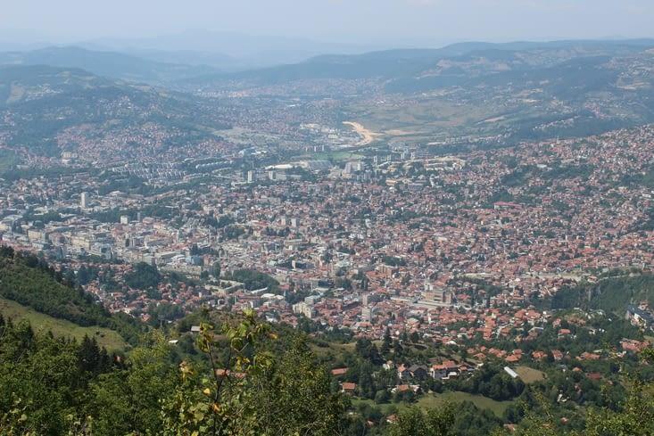 Vue sur Sarajevo