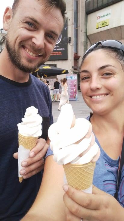Une bonne glace à l'italienne avant de repartir