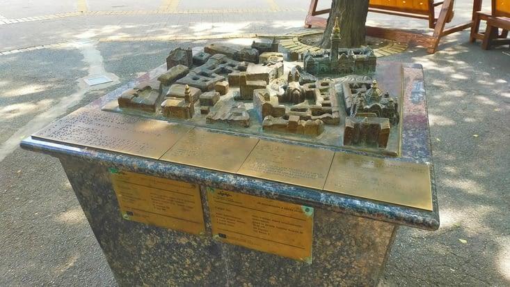 Maquette métal du centre ville