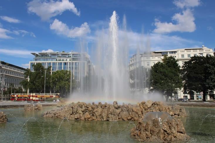 Fontaine jet d'eau