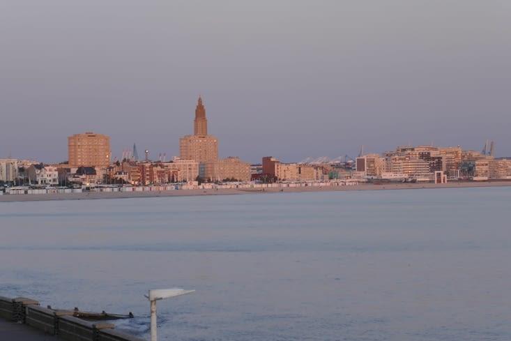 Couché de soleil sur le Havre