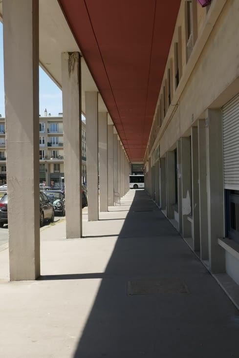 les arcades de la rue de Paris