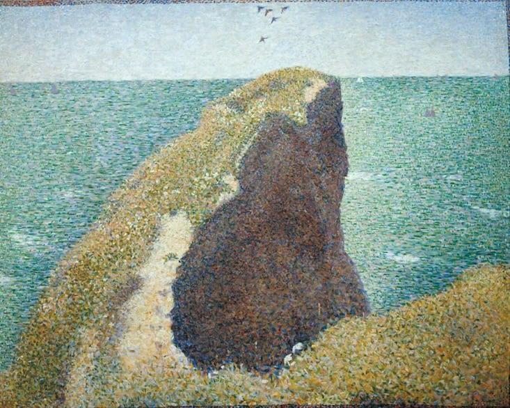 La pointe du Hoc vue par Georges Seurat