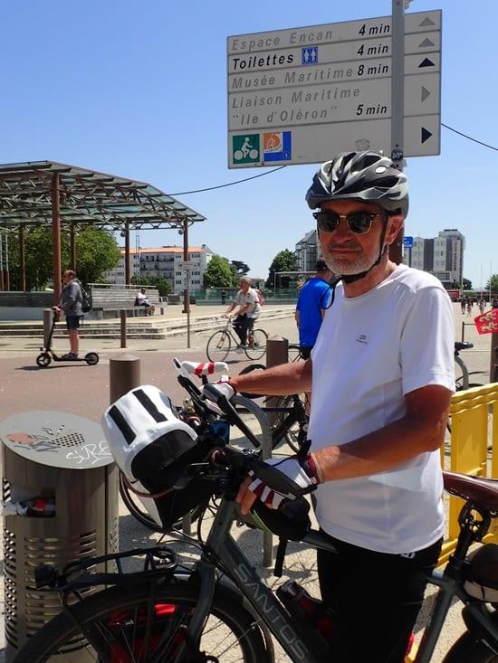 À La Rochelle à la fin la Vélo Francette, qui commence près de chez nous.