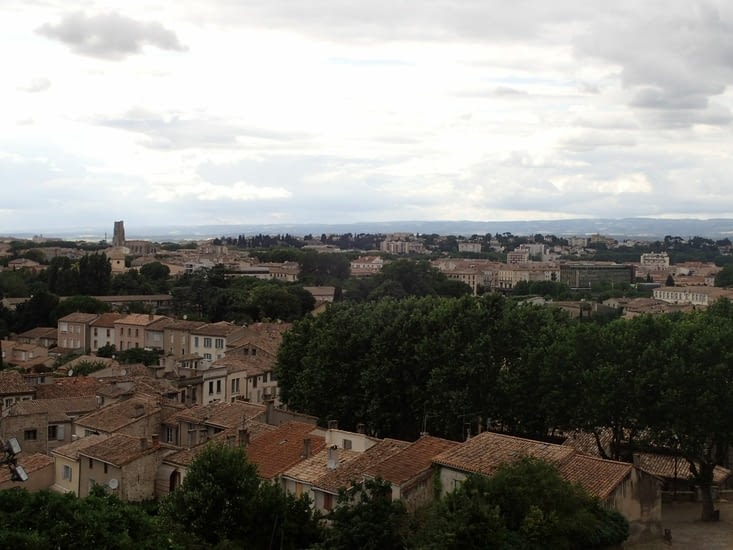 Les toits de Carcassonne vus du Château.