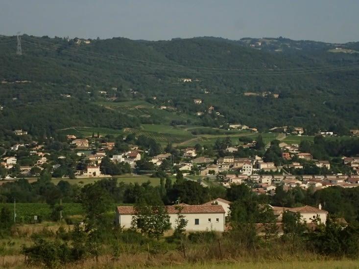 Les monts du Vivarais vus de chez Philippe et Isabelle.