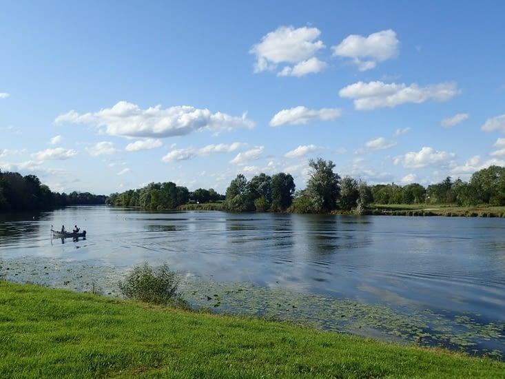 La Saône vuedu camping de Seurre.