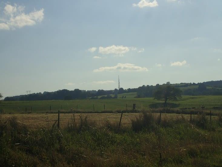 Le col de Sury, unique col ardennais, vu de Belval.