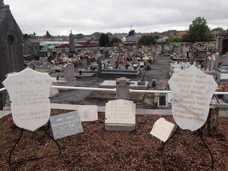 Le mémorial de la fusillade du 1er mai 1891.