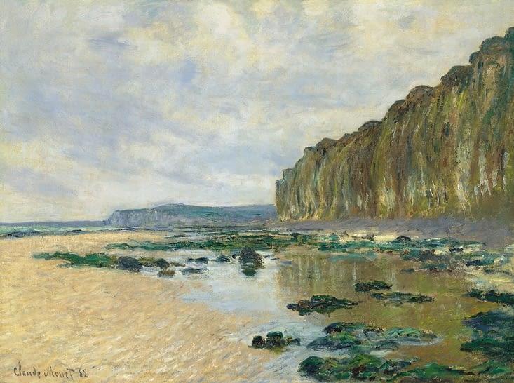 Marée basse à Varangéville.  Claude Monet.