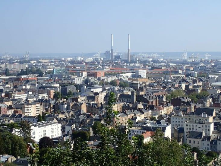 Le Havre vu d'en-haut.