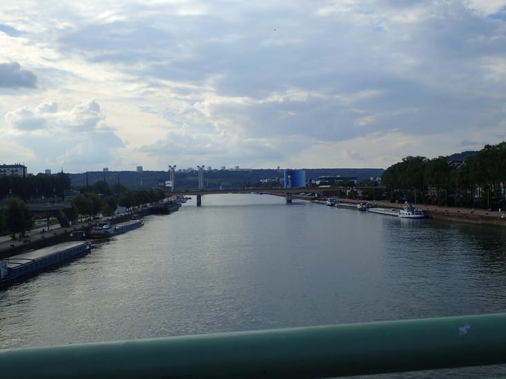 La Seine à Rouen.