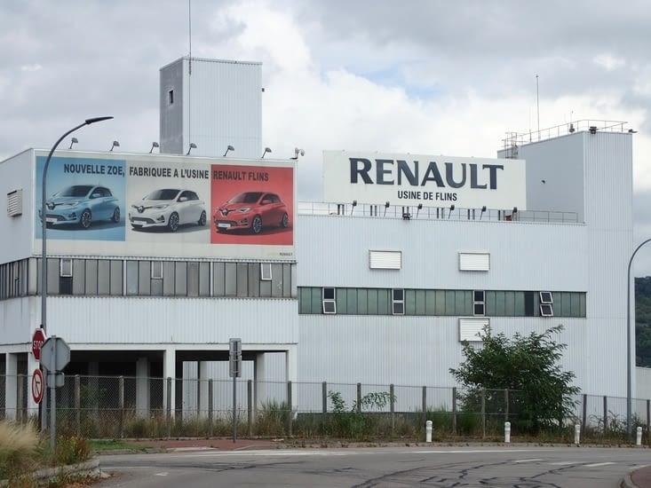 L'usine Renault à Flins.