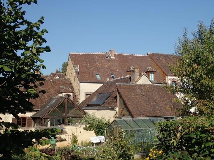 Les toits de Moutiers-au-Perche.