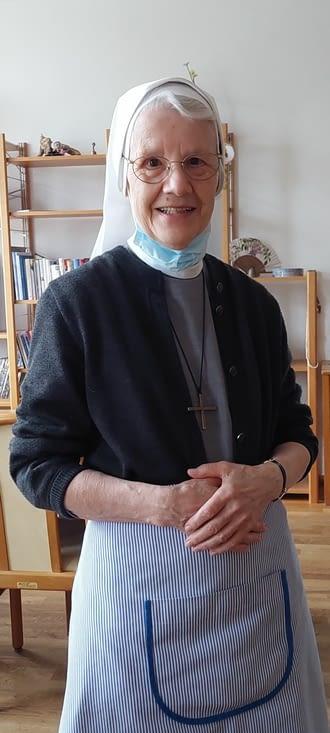 Peut-être le sourire de notre hospitalière Sr Doris-Marie