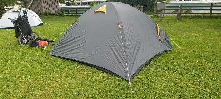 Première nuit sous tente... Pas la meilleure (des nuits)