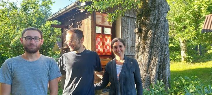 Chez Jozefina et Stefan, avec Georges,  pélerin Tchèque,  déjà 1000km dans les pattes.,,