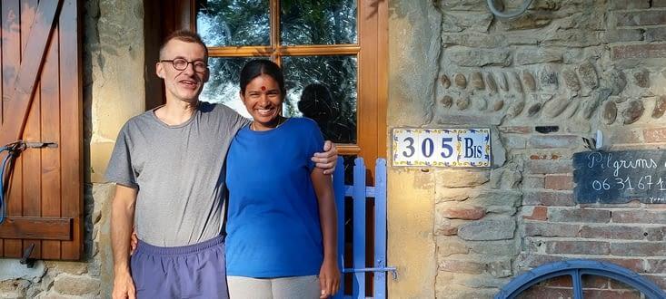 Lakshmi et Yvan étaient vraiment formidables... les enfants sont encore au lit...