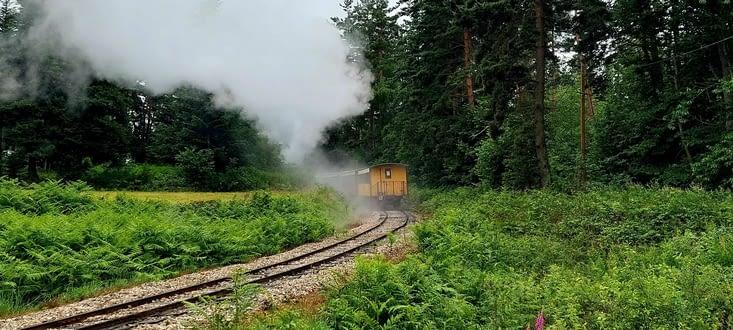 Surprise!  Mon chemin croise celui du Velay Express Tence Saint-Agrève
