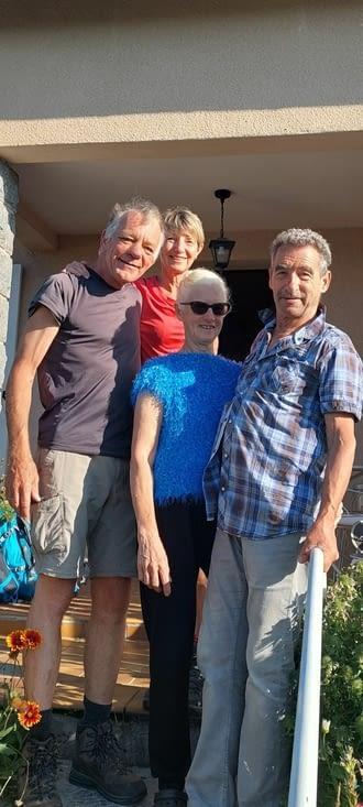 Un au revoir à Marie et Louis, une belle rencontre, l'hospitalité en personnes