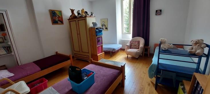 Pour arriver dans notre nouvelle chambre, plus cozy