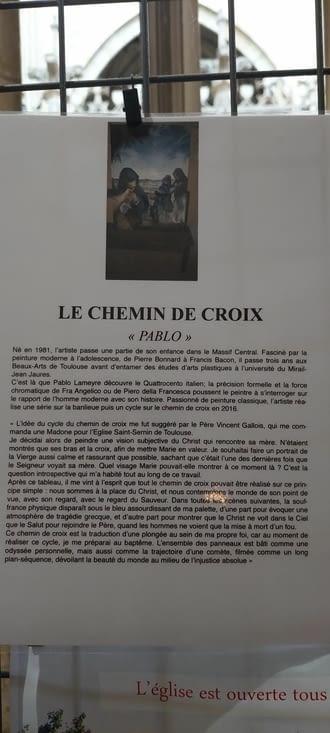 Et son magnifique 'Chemin de Croix très.... prenant