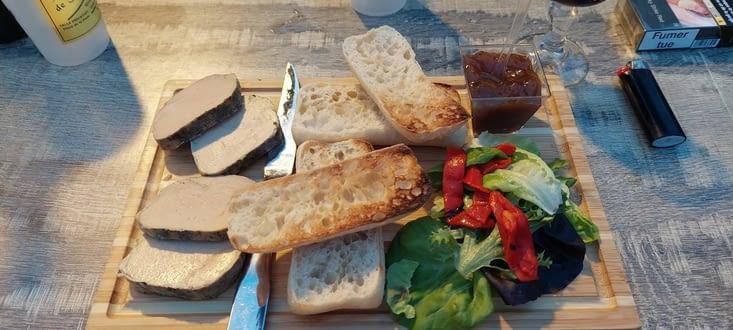 Enfin mon foie gras, avant de quitter Le Béarn