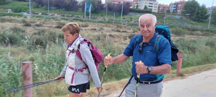 Yves et Mireille, pèlerins d'Aix-en-Provence...