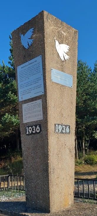 Alto de la Pedraja, monument aux morts découverts dans des choses communes.