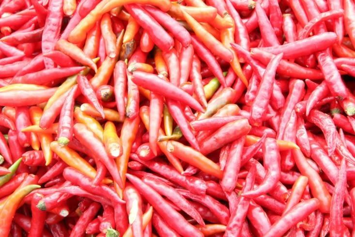 Les piments du marché