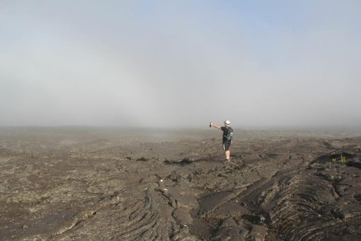 Alex a marché sur lune... à non c'est le volcan !