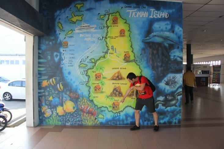 Carte de l'île... nous allons au Sud d'abord !