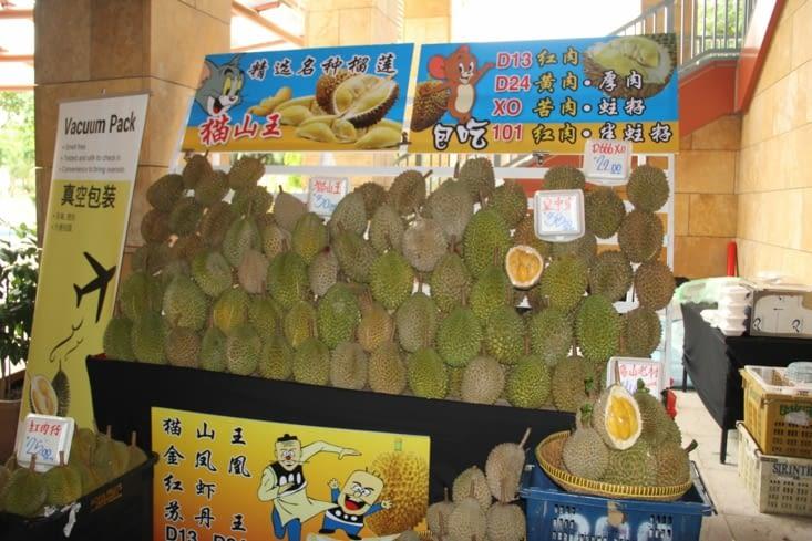 Stand de durians