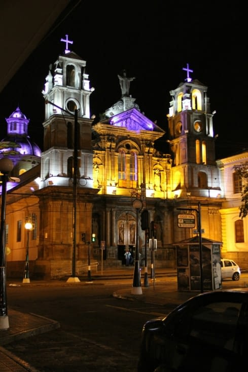 Eglise El Jordan by night