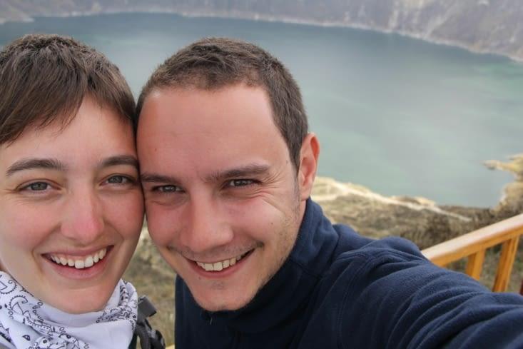 Petit selfie avec le lac (vous avez vu ma nouvelle coupe ?)