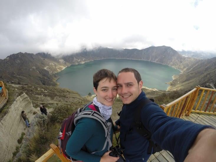 petit selfie avec le lac
