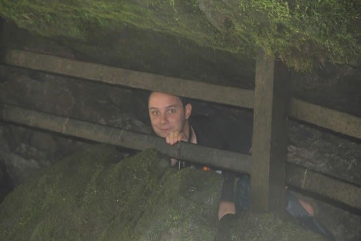 Dans sa grotte...