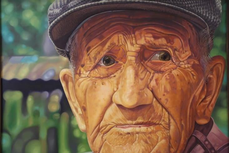 """Jaime Perez """"Don Vicente Vieira Retrato 104 anos"""""""