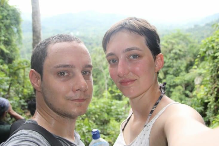 Selfie au milieu des bois