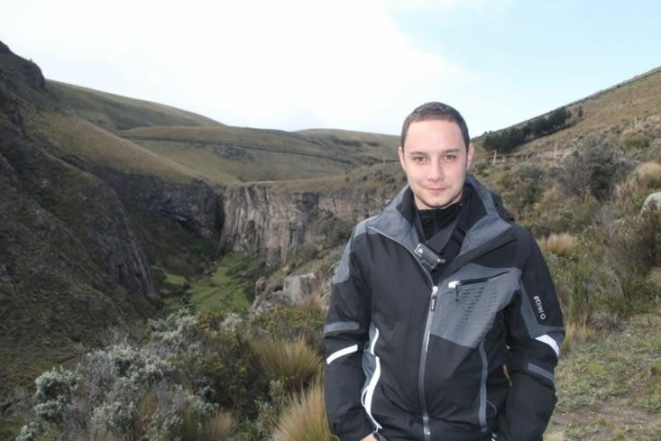 Canyon en allant sur le Chimborazo