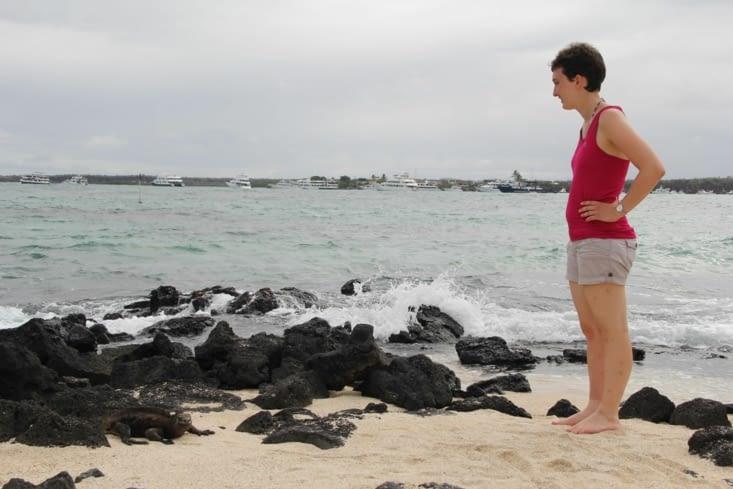 ... d'autre la plage Charles Darwin