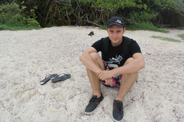 Alex à la plage