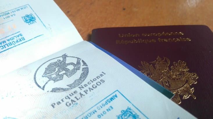 Le tampon du passeport