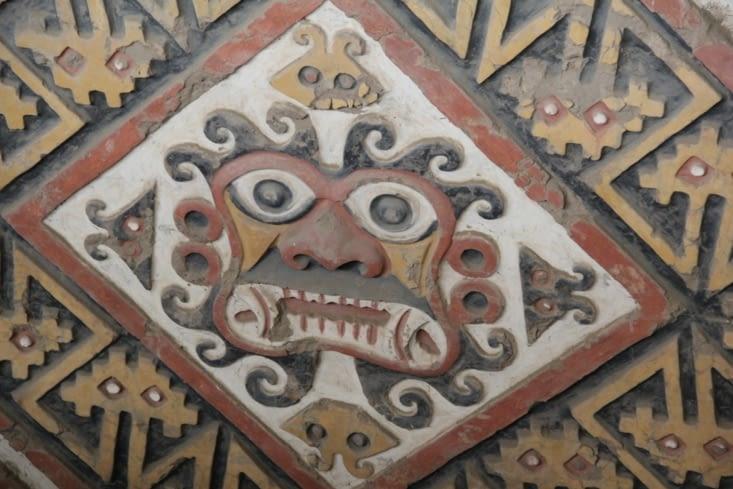 Peinture du 4ème étage de la pyramide de la Lune