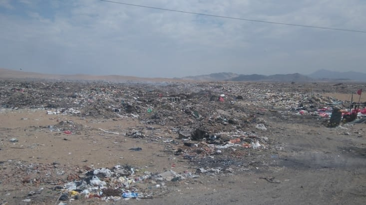 Voilà le paysage du nord du Pérou, c'est triste